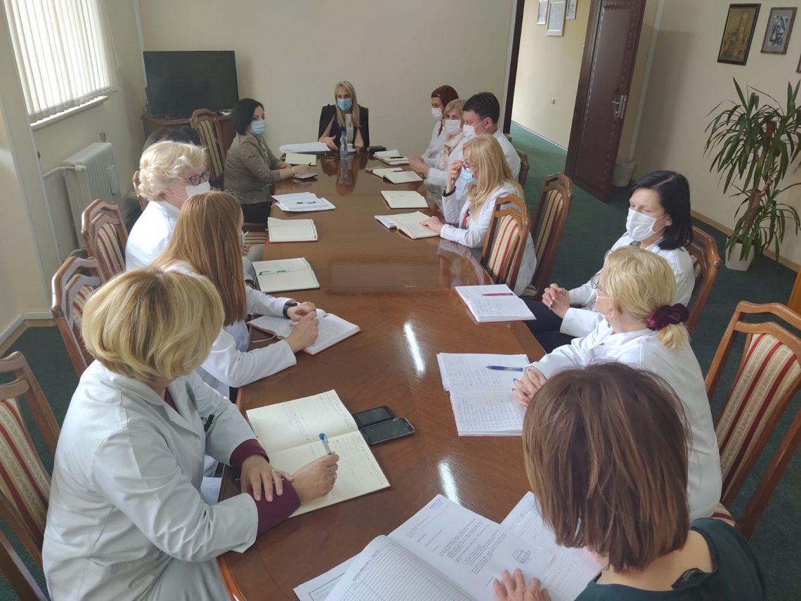 """U toku radni sastanak rukovodstva JZU """"Dom zdravlja"""""""