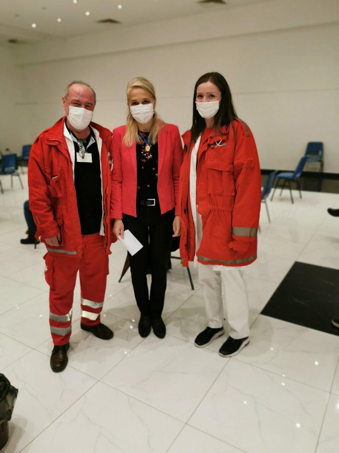 Danas je direktorica naše Ustanove Nevena Todorović primila vakcinu protiv korona virusa